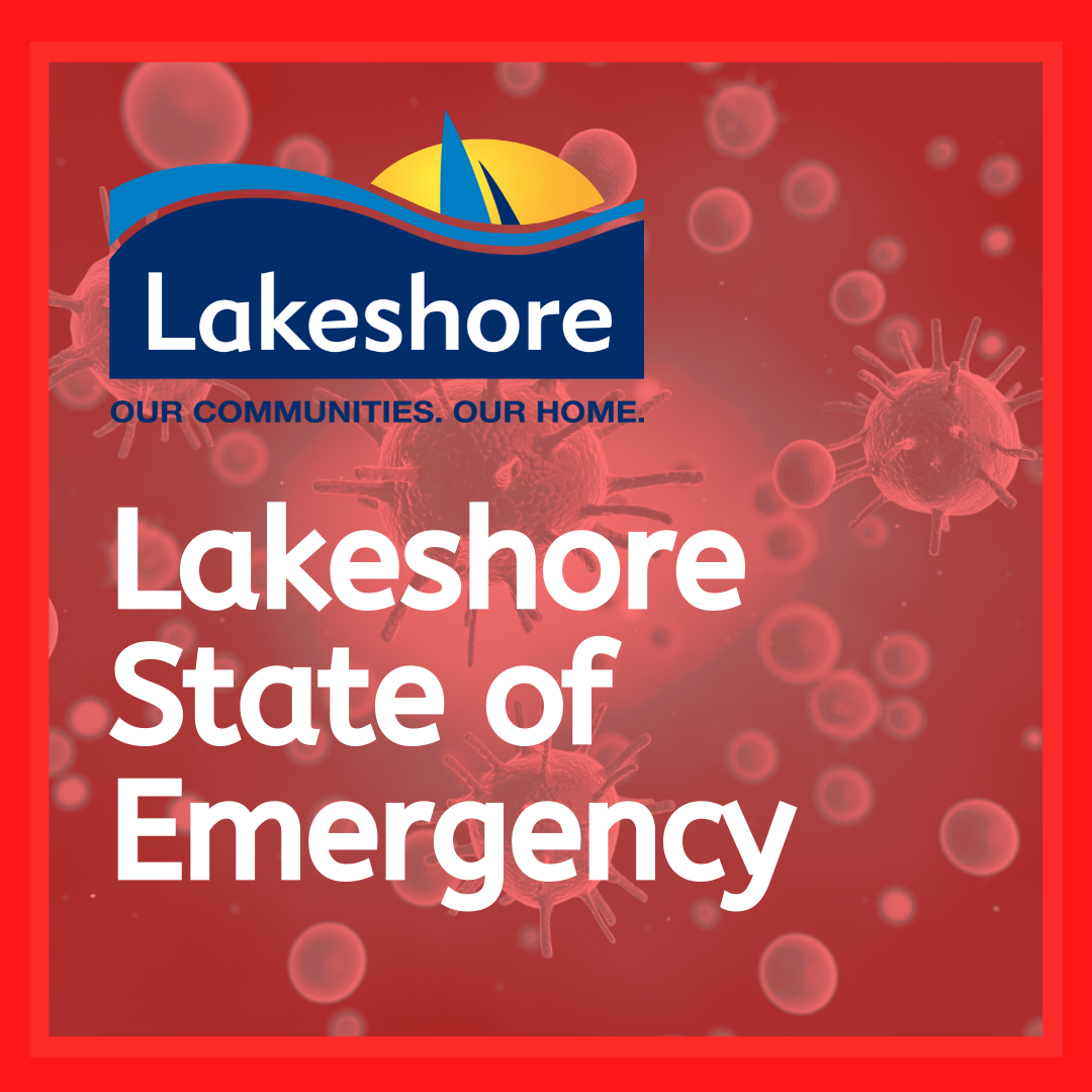 Lakeshore State of Emergency with Town logo