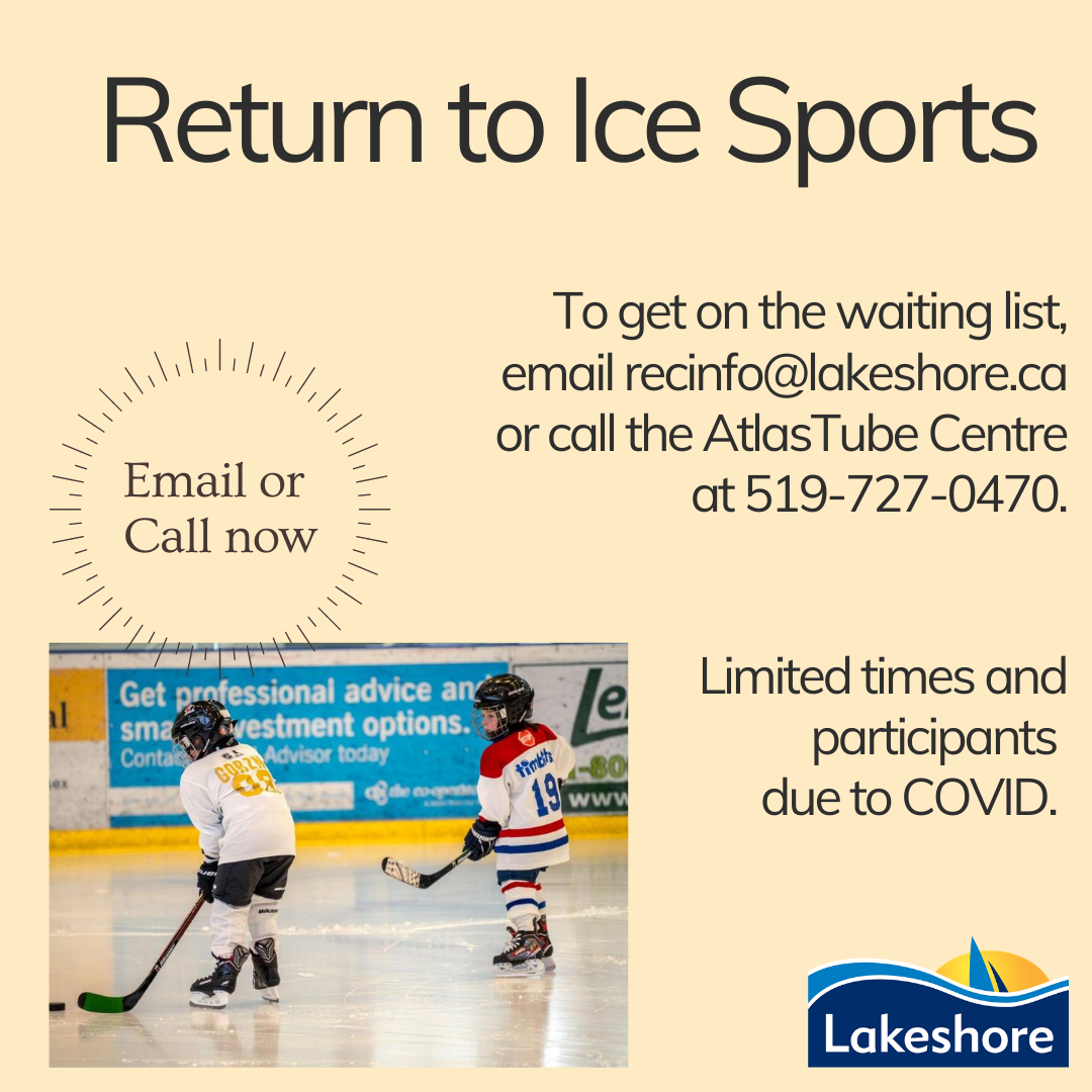 Return to Ice Sports with children wearing hockey gear on the ice rink