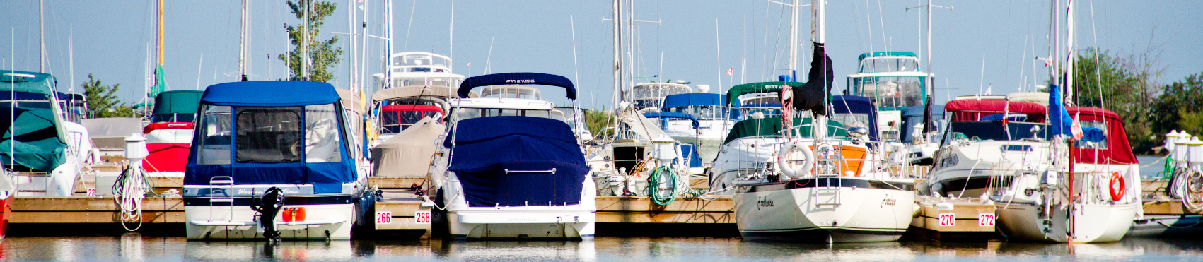 boats docked at the Belle River Marina
