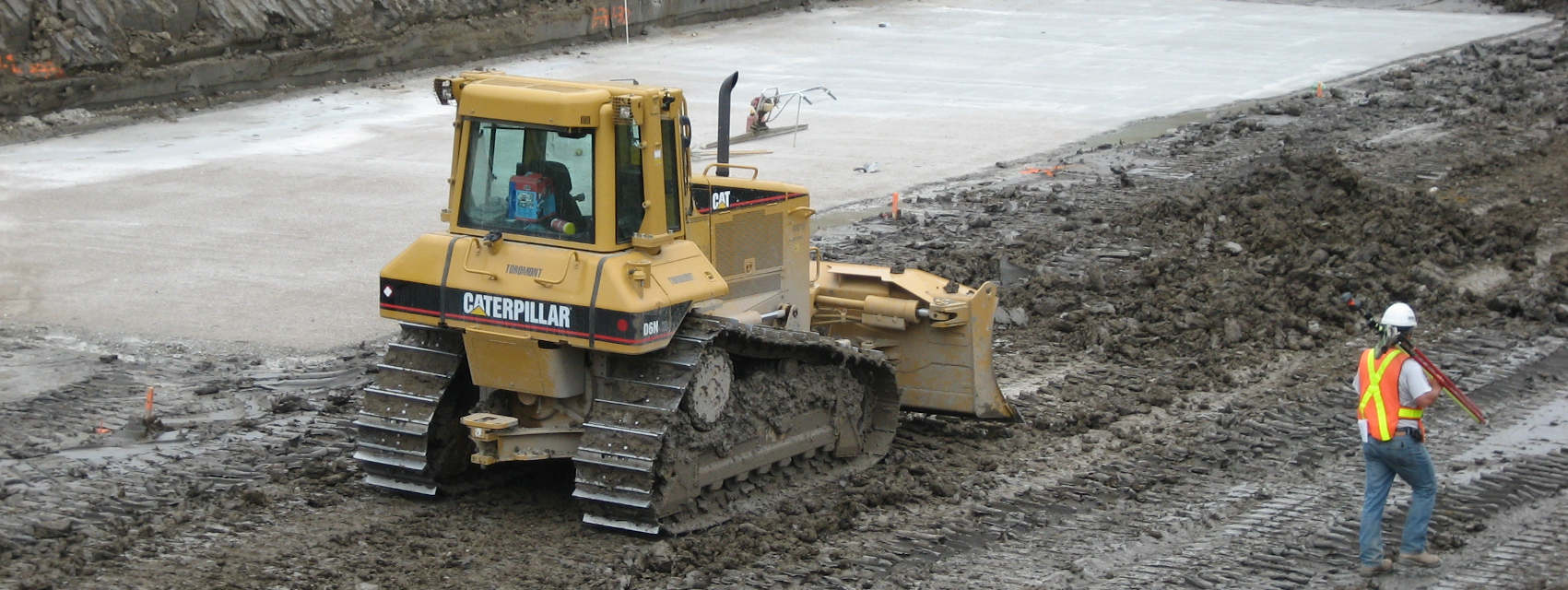 bulldozer in construction area